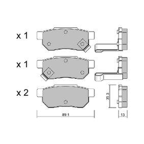 Комплект спирачно феродо, дискови спирачки ширина: 89,1мм, височина: 35,3мм, дебелина: 13мм с ОЕМ-номер GBP90316AF