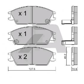 Bremsbelagsatz, Scheibenbremse Breite: 127,50mm, Höhe: 49,20mm, Dicke/Stärke: 15,00mm mit OEM-Nummer 58101-25A00
