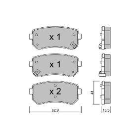 2009 KIA Ceed ED 2.0 Brake Pad Set, disc brake BPHY-2002