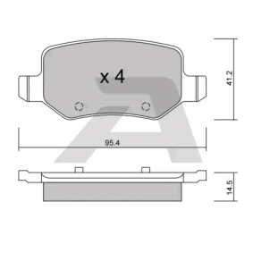 Brake Pad Set, disc brake Width: 95,4mm, Thickness: 14,5mm with OEM Number A16 842 00 420