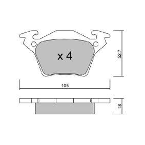 Bremsbelagsatz, Scheibenbremse Breite: 105mm, Höhe: 52,7mm, Dicke/Stärke: 18mm mit OEM-Nummer A00 042 14 210