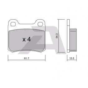 Bremsbelagsatz, Scheibenbremse Breite: 61,7mm, Dicke/Stärke: 15,5mm mit OEM-Nummer 000420 98 20