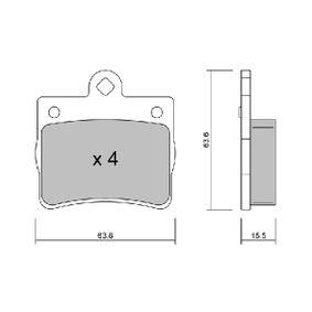 Bremsbelagsatz, Scheibenbremse Breite: 63,8mm, Höhe: 63,6mm, Dicke/Stärke: 15,5mm mit OEM-Nummer A 002 420 5120