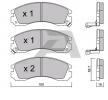 OEM Bremsbelagsatz, Scheibenbremse AISIN BPMI1902