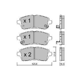Bremsbelagsatz, Scheibenbremse Breite: 125,6mm, Dicke/Stärke: 16,5mm mit OEM-Nummer 24285