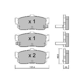 Bremsbelagsatz, Scheibenbremse Breite: 105,4mm, Höhe: 46,8mm, Dicke/Stärke: 16mm mit OEM-Nummer 44060 4U090