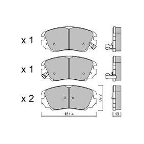 Bremsbelagsatz, Scheibenbremse Breite: 131,4mm, Höhe: 59,7mm, Dicke/Stärke: 19,04mm mit OEM-Nummer 1605 624
