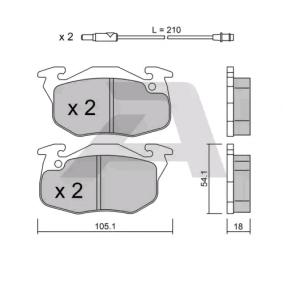 Bremsbelagsatz, Scheibenbremse Breite: 105,1mm, Höhe: 54,1mm, Dicke/Stärke: 18mm mit OEM-Nummer 424862
