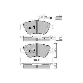 Bremsbelagsatz, Scheibenbremse Breite: 122,8mm, Höhe: 53,3mm, Dicke/Stärke: 18mm mit OEM-Nummer 77363942