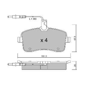 Bremsbelagsatz, Scheibenbremse Breite: 131,3mm, Dicke/Stärke: 20mm mit OEM-Nummer 4254 22