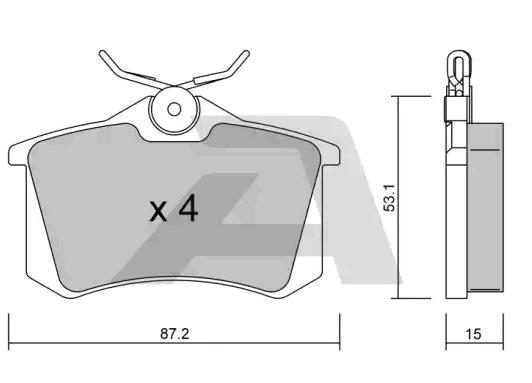 Bremsbeläge BPPE-2001 AISIN BPPE-2001 in Original Qualität