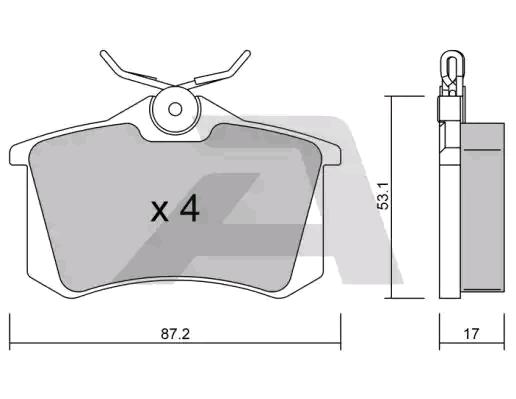 Bremsbeläge BPPE-2002 AISIN D1112 in Original Qualität