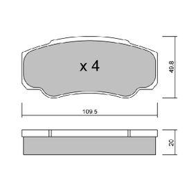 Bremsbelagsatz, Scheibenbremse Breite: 109,5mm, Höhe: 49,8mm, Dicke/Stärke: 20mm mit OEM-Nummer 425468