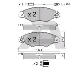 Renault Kangoo KC 1.6 16V bivalent Bremsbeläge AISIN BPRE-1007 (1.6 16V bivalent Benzin/Erdgas (CNG) 2017 K4M 850)