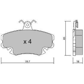 Bremsbelagsatz, Scheibenbremse Breite: 99,7mm, Höhe: 65mm, Dicke/Stärke: 18mm mit OEM-Nummer 7701 210 130