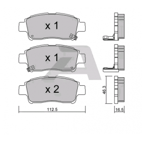 Bremsbelagsatz, Scheibenbremse BPTO-1916 Cuore 6 (L251, L250_, L260_) 1.0 Bj 2004