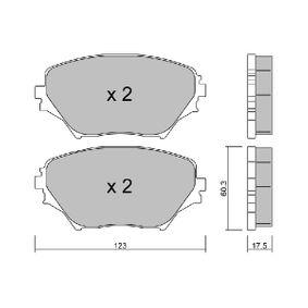 Bremsbelagsatz, Scheibenbremse Breite: 123mm, Höhe: 60,3mm, Dicke/Stärke: 17,5mm mit OEM-Nummer 04465 42 130