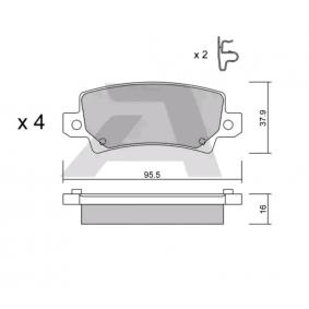 Bremsbelagsatz, Scheibenbremse Breite: 95,5mm, Höhe: 37,9mm, Dicke/Stärke: 16mm mit OEM-Nummer 04466 02 020