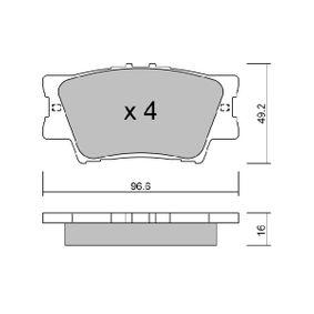 Bremsbelagsatz, Scheibenbremse Breite: 96,6mm, Höhe: 49,2mm, Dicke/Stärke: 15,5mm mit OEM-Nummer 04466 06100