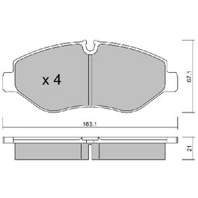 Bremsbelagsatz, Scheibenbremse Breite: 163,1mm, Höhe: 67,1mm, Dicke/Stärke: 21mm mit OEM-Nummer 2E06 98151