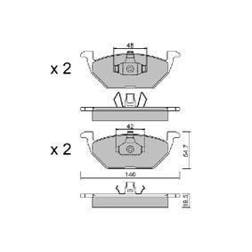 Bremsbelagsatz, Scheibenbremse Breite: 146mm, Höhe: 54,7mm, Dicke/Stärke: 19,5mm mit OEM-Nummer 6C0 698 151B