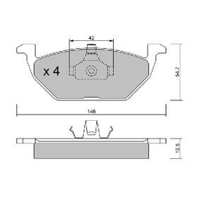 Bremsbelagsatz, Scheibenbremse Breite: 146mm, Dicke/Stärke: 19,5mm mit OEM-Nummer 1J0-698-151