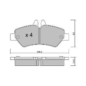 Bremsbelagsatz, Scheibenbremse Breite: 136,8mm, Höhe: 63mm, Dicke/Stärke: 19,5mm mit OEM-Nummer 2E0 698 451