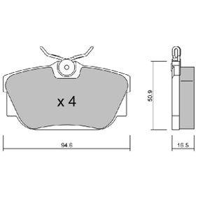 Bremsbelagsatz, Scheibenbremse Breite: 94,6mm, Höhe: 50,9mm, Dicke/Stärke: 16,5mm mit OEM-Nummer 7D0.698.451