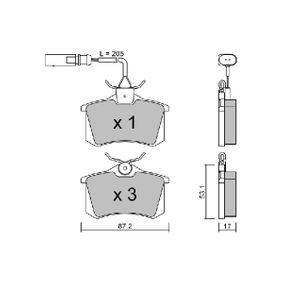 Bremsbelagsatz, Scheibenbremse Breite: 87,2mm, Höhe: 53,1mm, Dicke/Stärke: 17mm mit OEM-Nummer 1343513