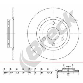 BRECK Brake disc kit Solid, Coated, without bearing(s)