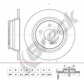 Bremsscheibe Bremsscheibendicke: 10,00mm, Lochanzahl: 5, Ø: 300,000mm mit OEM-Nummer A21 142 30 712
