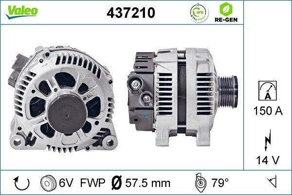 Generador 437210 VALEO A14VI35 en calidad original