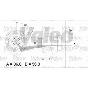 Lichtmaschine Rippenanzahl: 6 mit OEM-Nummer 1 11549302