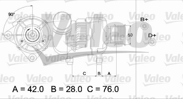 Lichtmaschine 437330 VALEO A14V30 in Original Qualität