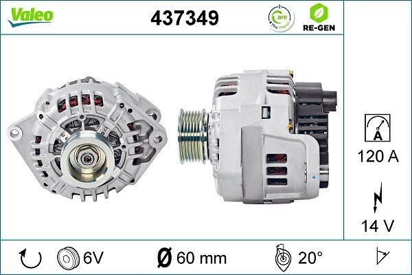 Lichtmaschine 437349 VALEO SG12B040 in Original Qualität