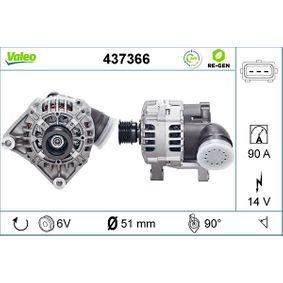 Lichtmaschine Rippenanzahl: 6 mit OEM-Nummer 12317501687