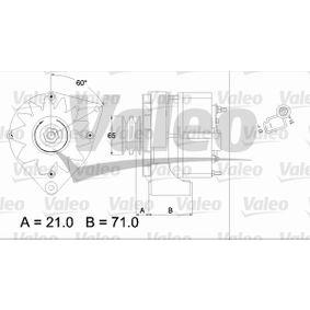 Lichtmaschine Rippenanzahl: 2 mit OEM-Nummer 5003746