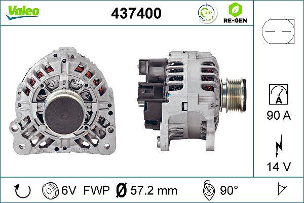 Lichtmaschine 437400 VALEO SG9 in Original Qualität