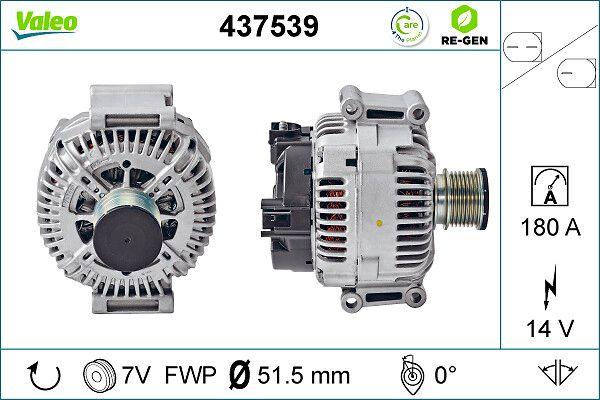 Lichtmaschine 437539 VALEO TG17C028 in Original Qualität
