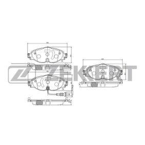 Bremsbelagsatz, Scheibenbremse Breite: 64,5mm, Dicke/Stärke: 19,1mm mit OEM-Nummer 5Q0698151