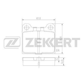 Bremsbelagsatz, Scheibenbremse Breite: 56,4mm, Dicke/Stärke: 14,8mm mit OEM-Nummer 310254042