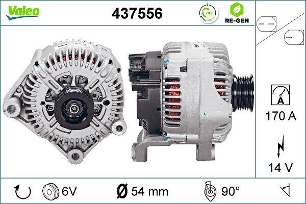 Lichtmaschine 437556 VALEO TG17C011 in Original Qualität