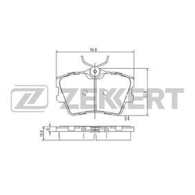 Bremsbelagsatz, Scheibenbremse Breite: 57,4mm, Dicke/Stärke: 16,6mm mit OEM-Nummer 701 698 451 C