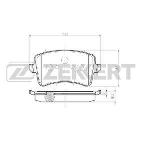 Bremsbelagsatz, Scheibenbremse Breite: 58,6mm, Dicke/Stärke: 16,3mm mit OEM-Nummer 8K0 698 451D