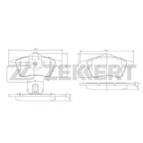 Bremsbelagsatz, Scheibenbremse Breite: 68,7mm, Dicke/Stärke: 19mm mit OEM-Nummer 7D0 698 151 F