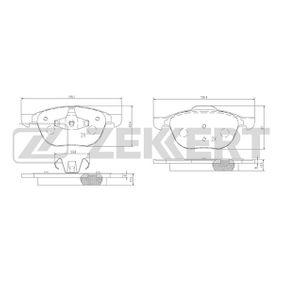 Bremsbelagsatz, Scheibenbremse Breite 1: 62,4mm, Breite 2: 67mm, Dicke/Stärke 1: 17,5mm, Dicke/Stärke 2: 17,5mm mit OEM-Nummer 1809256