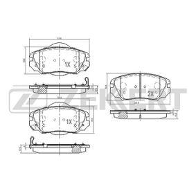 Bremsbelagsatz, Scheibenbremse Breite: 59,6mm, Dicke/Stärke: 17,9mm mit OEM-Nummer 13 23 7753