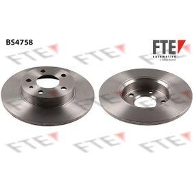 Bremsscheibe Bremsscheibendicke: 11mm, Lochanzahl: 5, Ø: 240mm mit OEM-Nummer 606 708 04