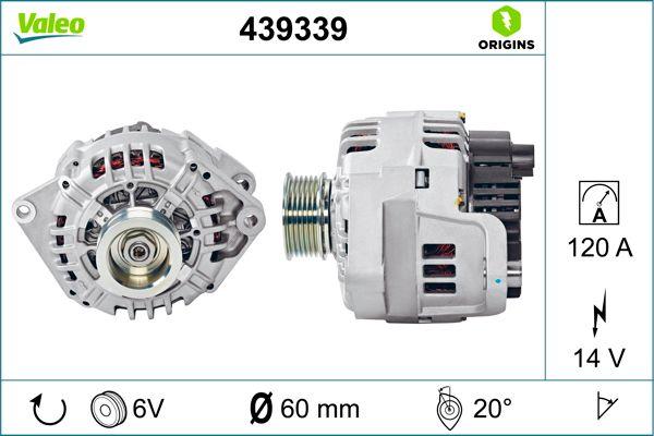 Lichtmaschine 439339 VALEO SG12B040 in Original Qualität