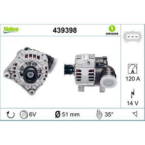 Lichtmaschine Rippenanzahl: 6 mit OEM-Nummer 12-31-7-501-690